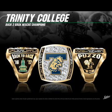 Trinity College Men's Football 2017 NESCAC Championship Ring
