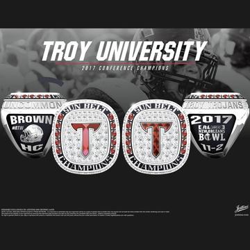 Troy University Men's Football 2017 Sun Belt Championship Ring