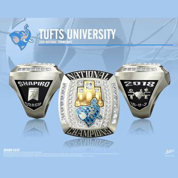 Tufts University Men's Soccer 2018 National Championship Ring