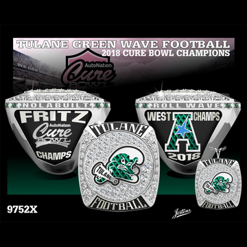 Tulane University Men's Football 2018 Cure Bowl Championship Ring