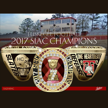 Tuskegee University Men's Football 2017 SIAC Championship Ring