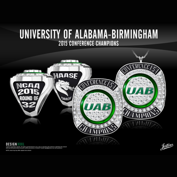 UAB Men's Basketball 2015 Conference USA Championship Ring