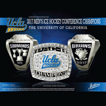 UCLA Men's Ice Hockey 2017 Pac 8 Championship Ring