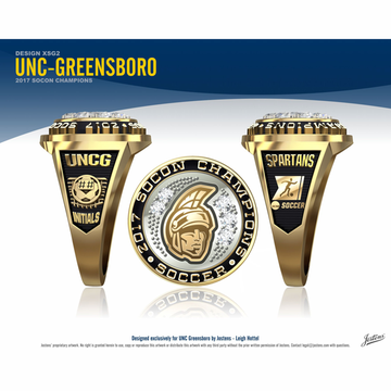 UNC Greensboro Women's Soccer 2017 SoCon Championship Ring