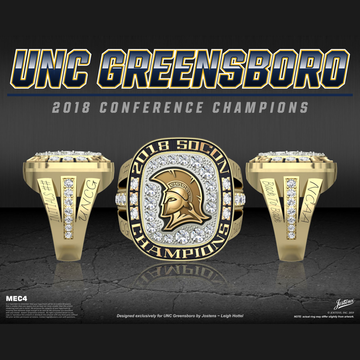 UNC Greensboro Women's Soccer 2018 SoCon Championship Ring