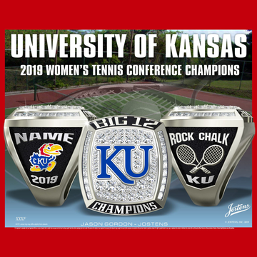University of Kansas Women's Tennis 2019 Big 12 Championship Ring