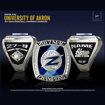 University of Akron Men's Basketball 2017 MAC Championship Ring