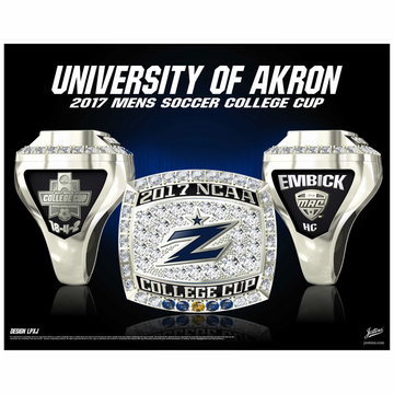University of Akron Men's Soccer 2017 College Cup Championship Ring