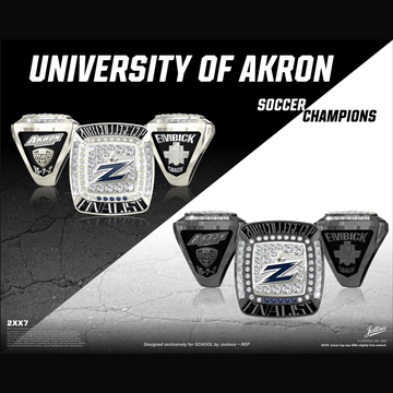 University of Akron Men's Soccer 2018 College Cup Finalist Championship Ring