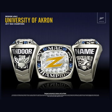 University of Akron Men's Track & Field 2017 MAC Championship Ring
