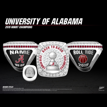 University of Alabama Men's Basketball 2019 NIWBT Championship Ring