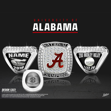 University of Alabama Men's Swimming & Diving 2019 National Championship Ring
