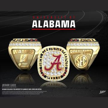 University of Alabama Men's Track & Field 2018 SEC Championship Ring