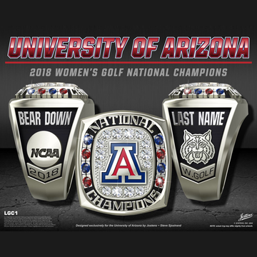 University of Arizona Women's Golf 2018 National Championship Ring