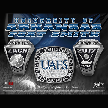 University of Arkansas Fort Smith Men's Golf 2017 Heartland Conference Championship Ring