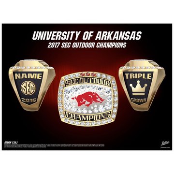 University of Arkansas Men's Track & Field 2016 SEC Championship Ring