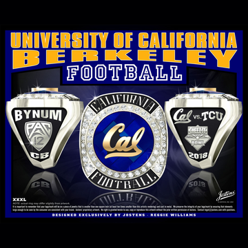 University of California Berkeley Men's Football 2018 Cheez-It Bowl Championship Ring