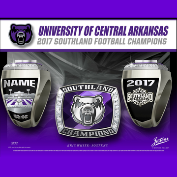 University of Central Arkansas Men's Football 2017 Southland Championship Ring