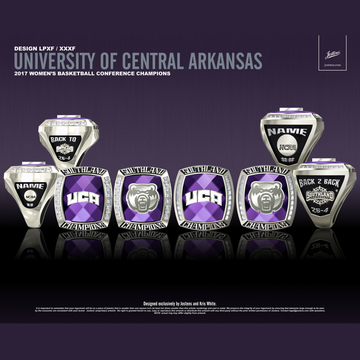 University of Central Arkansas Women's Basketball 2017 Southland Championship Ring