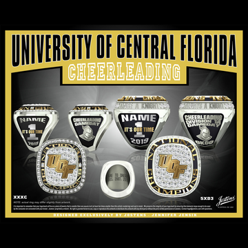 University of Central Florida Coed Cheer 2019 National Championship Ring
