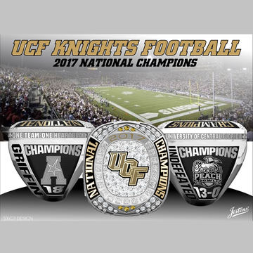 University of Central Florida Men's Football 2017 American Championship Ring