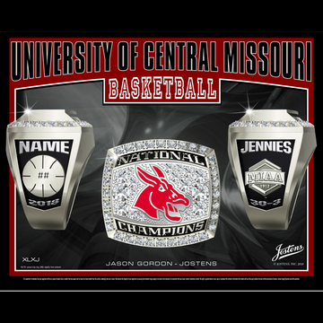 University of Central Missouri Women's Basketball 2018 National Championship Ring