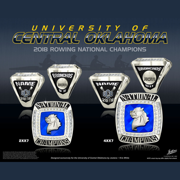 University of Central Oklahoma Women's Rowing 2018 National Championship Ring
