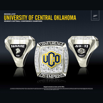 University of Central Oklahoma Women's Softball 2017 MIAA Championship Ring