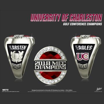 University of Charleston Women's Golf 2018 Mountain East Championship Ring