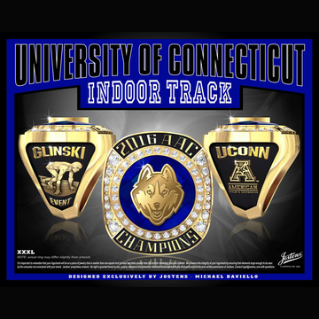 University of Connecticut Men's Track & Field 2016 American Championship Ring