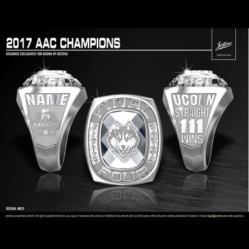University of Connecticut Women's Basketball 2017 American Championship Ring