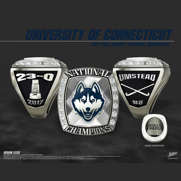 University of Connecticut Women's Field Hockey 2017 National Championship Ring