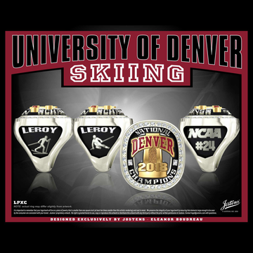University of Denver Coed Skiing 2018 National Championship Ring