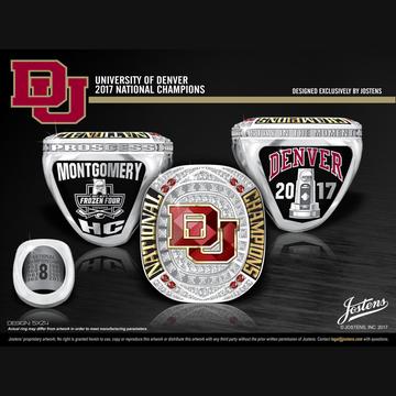University of Denver Men's Ice Hockey 2017 National Championship Ring