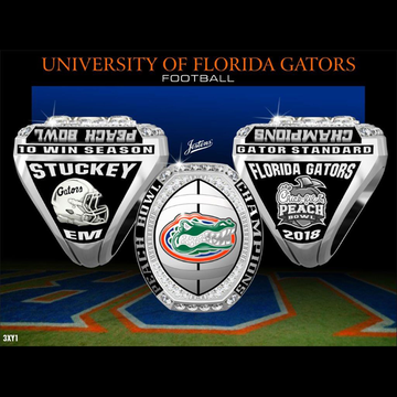 University of Florida Men's Football 2018 Peach Bowl Championship Ring