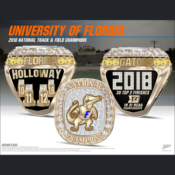 University of Florida Men's Track & Field 2018 National Championship Ring