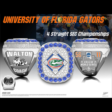 University of Florida Women's Softball 2018 SEC Championship Ring