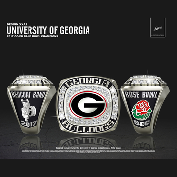 University of Georgia Coed Band 2017 Rose Bowl Championship Ring