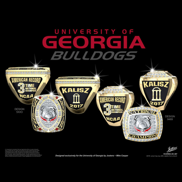 University of Georgia Men's Swimming & Diving 2017 National Championship Ring