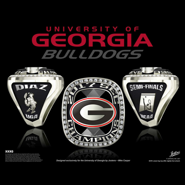 University of Georgia Men's Tennis 2017 SEC Championship Ring