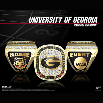 University of Georgia Men's Track & Field 2018 National Championship Ring