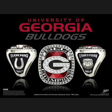 University of Georgia Women's Equestrian 2017 SEC Championship Ring