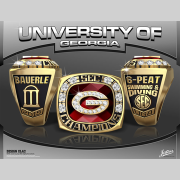 University of Georgia Women's Swimming & Diving 2015 SEC Championship Ring