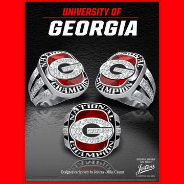 University of Georgia Women's Swimming & Diving 2016 National Championship Ring