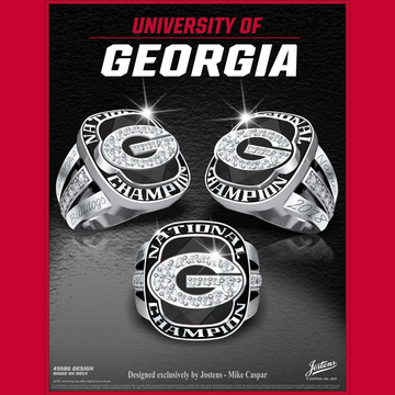 University of Georgia Women's Track & Field 2018 National Championship Ring