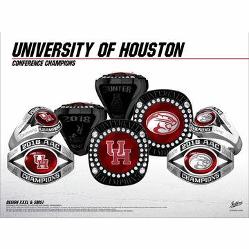 University of Houston Women's Swimming & Diving 2018 American Championship Ring