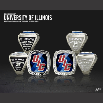 University of Illinois Men's Baseball 2017 Conference Championship Ring