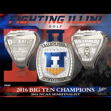 University of Illinois Men's Golf 2016 Big Ten Championship Ring