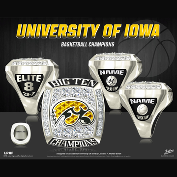 University of Iowa Women's Basketball 2019 Big Ten Championship Ring