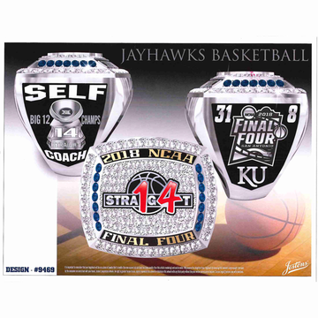 University of Kansas Men's Basketball 2018 Final Four Championship Ring